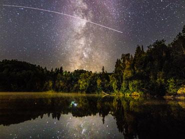 Nuit étoilée Lac D'ARGENT